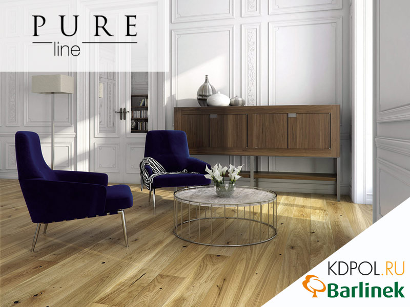 Паркетная доска дуб Raisins Grande коллекции Pure Line