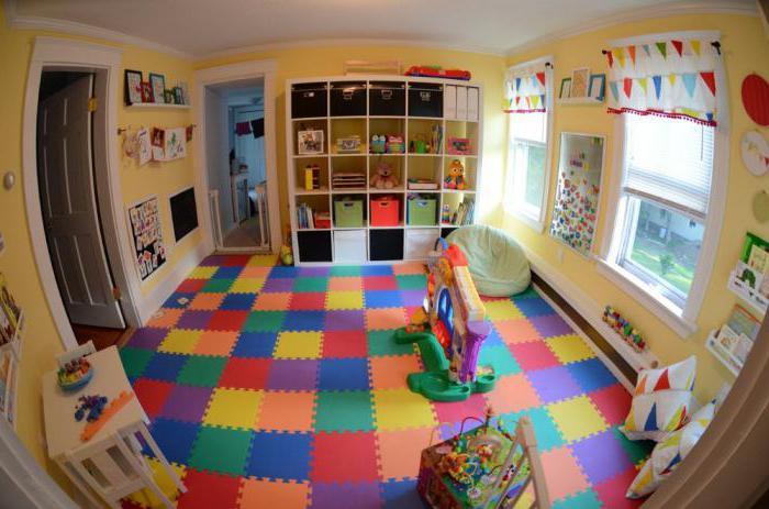 Использование мягких ковриков пазлов в детской комнате
