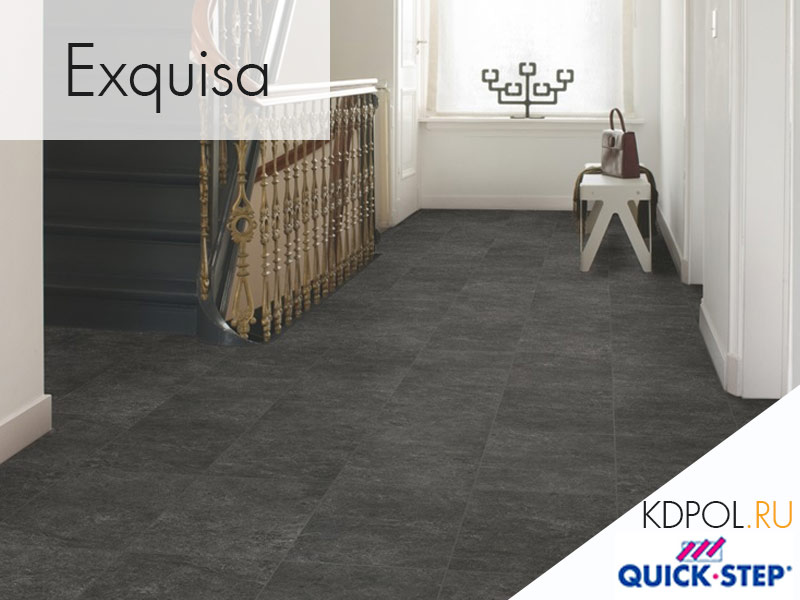Ламинат Quick-Step Exquisa черный сланец