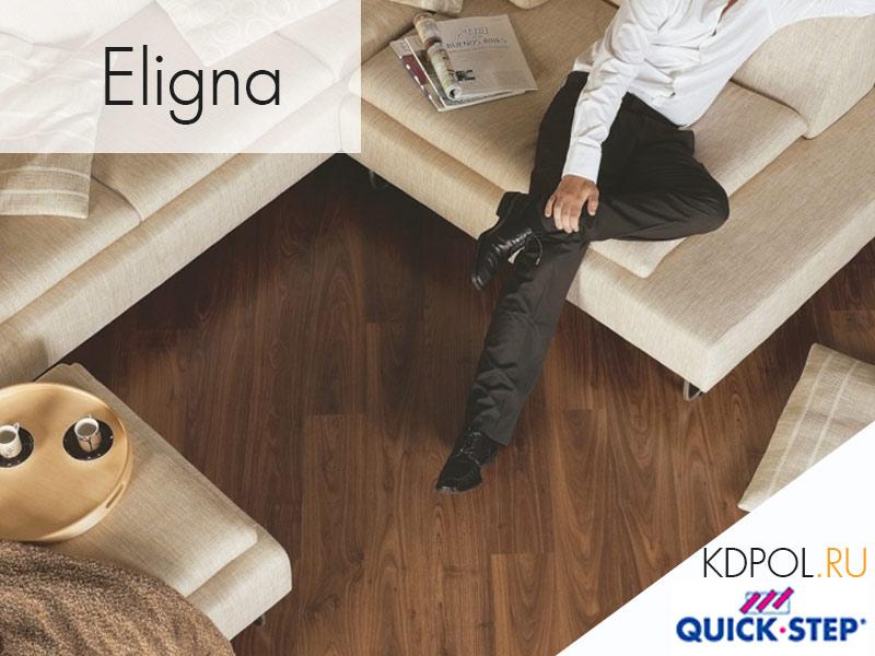Ламинат Quick-Step Eligna доска ореховая промасленная