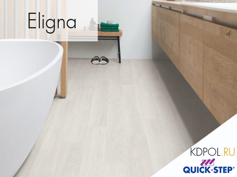 Ламинат Quick-Step Eligna дуб итальянский светло-серый